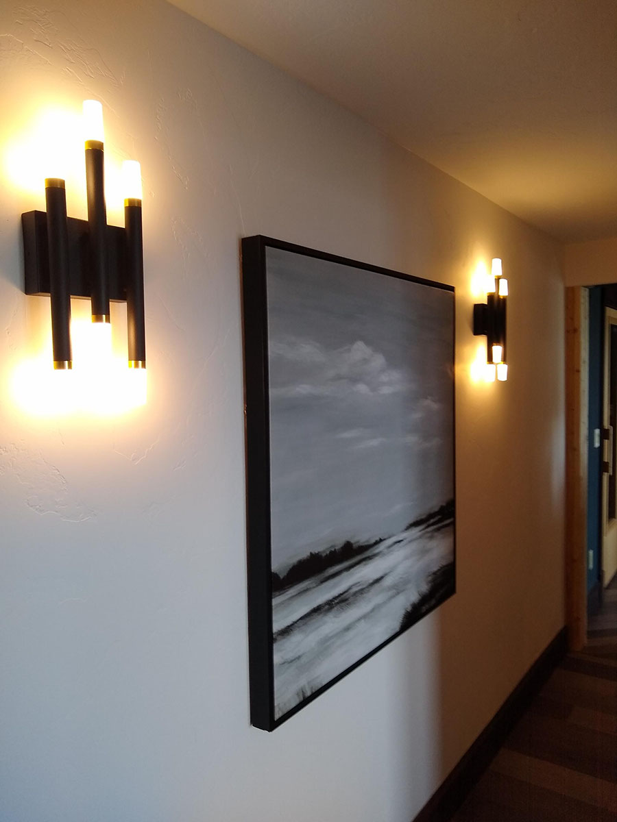 Beautiful sconces we installed on Quail Hill.